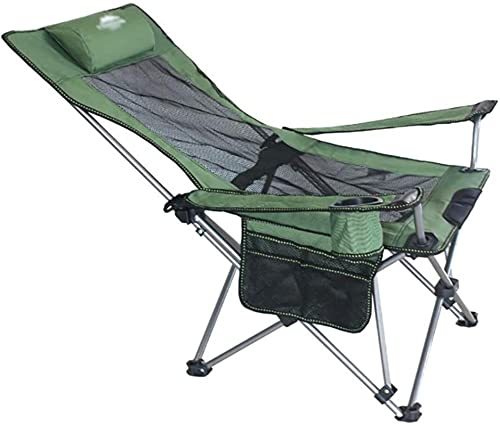 dh-4 Sillas Silla Plegable para Acampar Silla Ultraligera para mochileros con reposabrazos Portavasos y Bolsa de Transporte y Almacenamiento Sillas Plegables