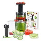 Genius Feelvita Slow Juicer | 12 Teile | Entsafter/Saftpresse für Obst und Gemüse |...