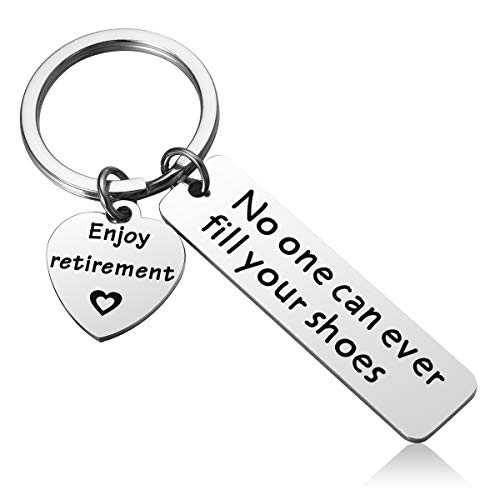 Retirement Keychain Gifts for Coworker - No One Can Ever Fill Your...