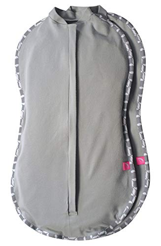 Motherhood Doppelpack Pucktuch zip & swaddle - Größe 2 (5-8kg) grau-grau classics