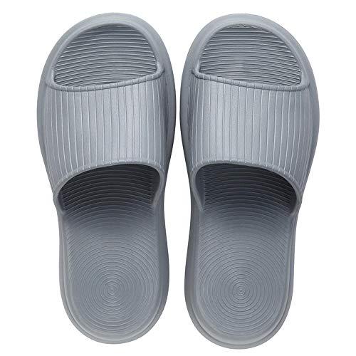 JFHZC Zapatillas de Playa y Piscina,Masaje en el hogar Sandalias y Pantuflas de Suela Gruesa, Las Pantuflas de Suela Blanda Son adecuadas para Piscinas de Hotel-Gray_39-40EU