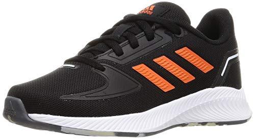 adidas RUNFALCON 2.0 K Running Shoe, Core Black True Orange FTWR White, 5 UK
