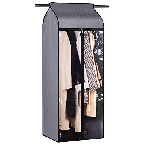 Univivi Bolsa organizadora de ropa grande de 152,4 cm, a prueba de polvo, para colgar ropa, con ventana grande transparente, protector de ropa para traje largo, vestido largo y armario