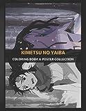 Coloring Book & Poster Collection: Kimetsu No Yaiba Premium Metal Of Demon Slayer Anime & Manga