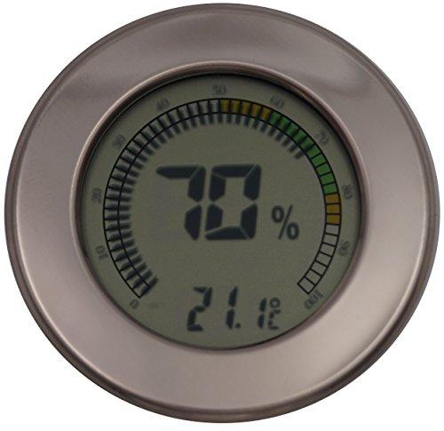 GERMANUS Kalibrierbarer Hygrometer für Humidor, digital - Rund II