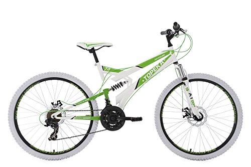 KS Cycling Mountainbike MTB Fully 26'' Topeka weiß-grün RH44cm