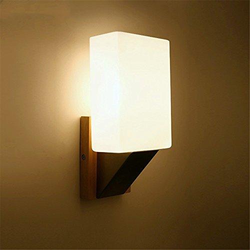 WEXLX Appliques en bois de style nordique Wall Lamp pour respecter un Balcon Salon Escaliers diamètre12 cm hauteur25cm