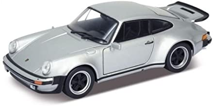Welly New 1:24 W/B Collection - Silver 1974 Porsche 911 Turbo 3.0 Diecast Model Car