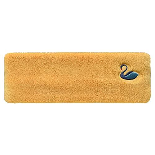 Lurrose 1 diademas de spa de belleza para lavar la cara, removedor de diadema, envoltura de maquillaje, color amarillo