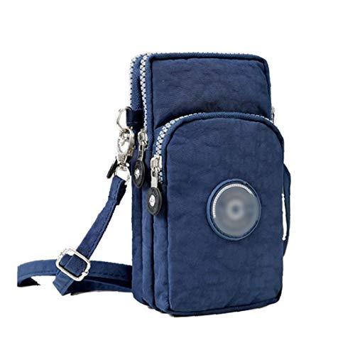 Fashion Bag Umhängetasche Verstellbare Riemen Handy Purse Segeltuch Handgelenk Lauf Vertikal Mini-tasche Für Frauen (dunkelblau)