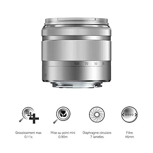 Panasonic H-FS35100E-S Lumix G Vario Telezoom Objektiv (35-100 mm) silber