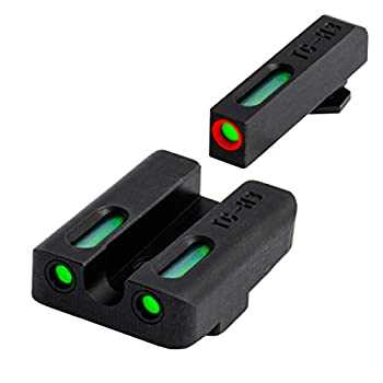 TRUGLO TFX Pro Tritium and Fiber Optic Xtreme Handgun Sights for Glock Pistols Glock 17/17L 19 22 23 24 and More