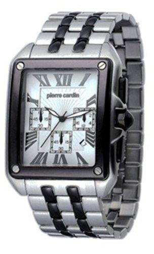 Pierre Cardin PC100781F01 - Reloj analógico de caballero de cuarzo con correa de plástico negra - sumergible a 30 metros