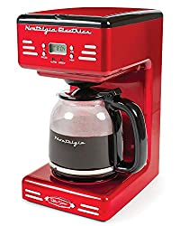 red colored coffee makers - retro style
