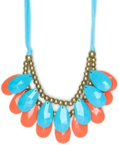 mixed- Size 48mm Large special price !! Teardrop Double Necklace Strand New item Stormy Br Seas