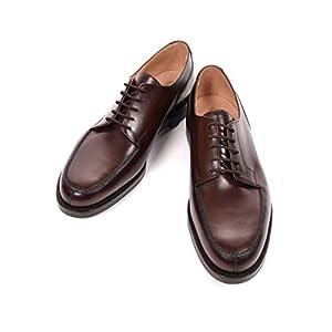 [Crockett&Jones] MORETON Uチップ レザーシューズ ダークブラウン 革靴 紳士靴 ビジネスシューズ 外羽 モールトン メンズ 9
