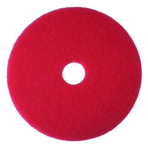 3M Red Buffer Pad 5100, 20 in, 5/Case