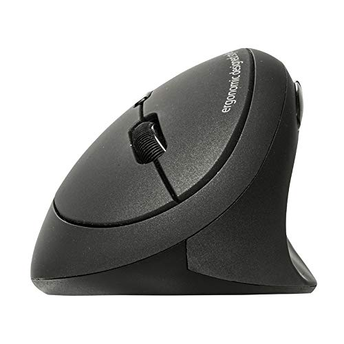 SANWA Bluetooth Ergonomic Mouse, Optical Vertical Mice, for Small Hands, Reduce Wrist Strain, (800/1200/1600 DPI, 6 Buttons) Compatible with MacBook, Laptop, Windows, Mac OS, Android, GMAERGBT18
