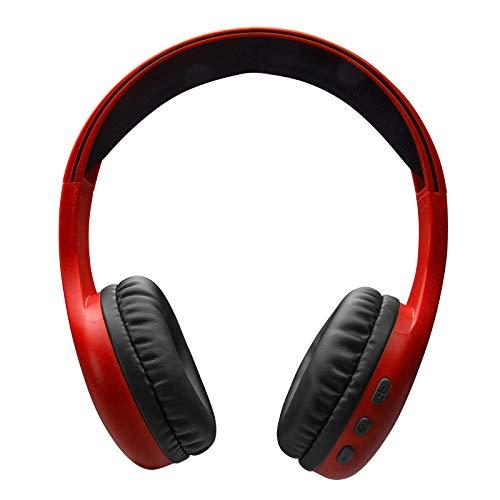 SBS Auriculares estéreo Ajustables con Almohadillas Suaves y micrófono Integrado, inalámbrico V5.0, Teclas para Llamadas y gestión de música