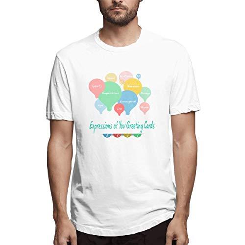 Shirt Gruß-Notizkarten Geburtstagskarten-Design Handmad Eine Neue Marke von Grußkarten Quotexpressions of Bfdcadf Herren Baumwolle lässig T-Shirt