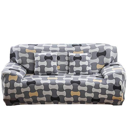 GladiolusA Elastisch Sofa Überwürfe Sofabezug,Stretch Sofahusse Sofa Abdeckung Hussen Für Sofa,Couch,Sessel,Mehrere Farben Stil 19 3 Sitzer für Sofalänge 190-230cm