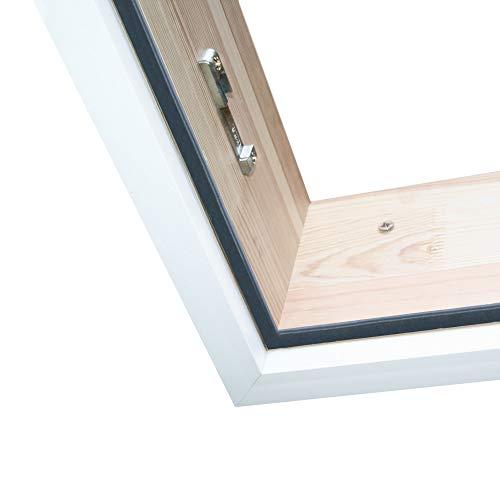 Schneeweiße Abdeckleisten NUR FÜR Bodentreppe HEYKE | Perfekter Deckenabschluss | Einfache Montage | Premium Verkleidungsleiste aus Kunststoff | Premium Qualität (140 X 70 cm)