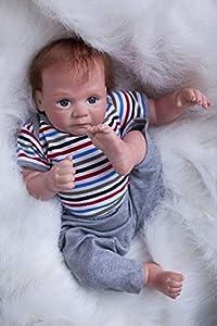 ZELY 20 Pulgadas 50cm Suave Silicona Vinilo Recién Nacido niño muñecas Bebé Reborn Baby Dolls Magnetismo Juguete Regalo