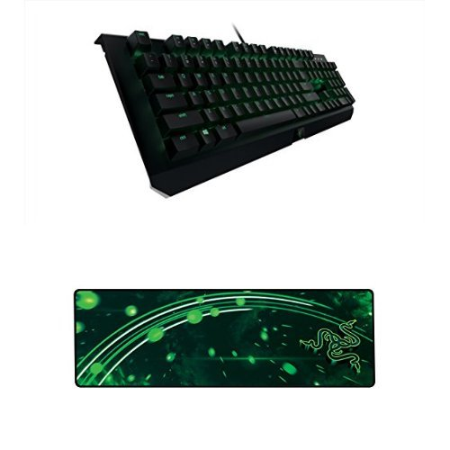 Razer BlackWidow X Ultimate - Backlit Mechanical Gaming Keyboard with Military Grade Metal Construction + Gaming Mat