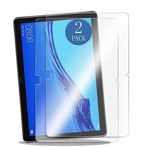 aiMaKE Huawei MediaPad M5 Lite 10.1 Panzerglas,[2 Stück] Bildschirmschutzfolie für Huawei MediaPad M5 Lite (10,1 Zoll) -9H Festigkeit,Anti-Kratzer