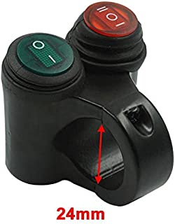HNOOSTER Phare de Moto Phare Antibrouillard Clignotant Bouton de Commutateur de Commande de Guidon 22Mm