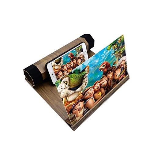 YM09 Praktische 12 inch Grote Scherm Vergrootglas Voor Smartphone, 3D Vergrootglas Met Stand Voor Android & Iphone, Opvouwbare Draagbare Loupes Voor IPhoneXS/XR/5/5s/6/6s/7/7s/8/8s, Lichtgeel