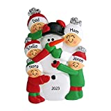 Personalized Building Snowman Family of 5...