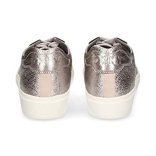 DKNY Frauen Reesa Fashion Sneaker Silber Groesse 7.5 US /38.5 EU
