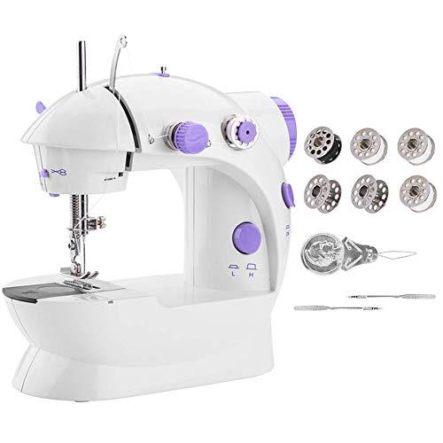Gelentea Mini máquina de coser portátil, máquina automática de arreglo de manualidades con luz para el hogar, los niños, los principiantes de viaje