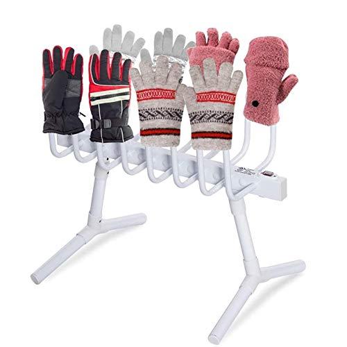 DSDD 4 Pares de secador de Zapatos eléctrico de pie, Calentador en seco, riel para Botas, Calentador deshumidificador, termostato Inteligente, Guante para Zapatos, secador y c