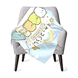 Throw Blanket Super Soft Flannel Blankets for Bed Sofa Living Room Cute Anime Sumikko Gurashi Blanket for Boy Girls Baby Children Multicolor Dino Gifts 30X40 inces