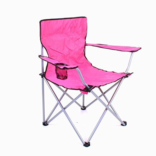 HOME HUT FOLDING CAMPING CHAIR HIKING GARDEN INDOOR OUTDOOR FISHING SEAT...