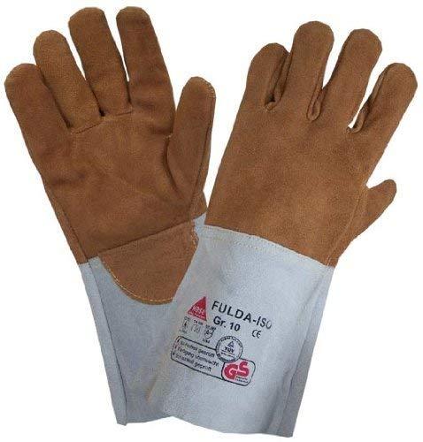 Schweißschutzhandschuhe FULDA-ISO - Hitzebestxe4ndig / Kevlar-Garn - Gr. 11