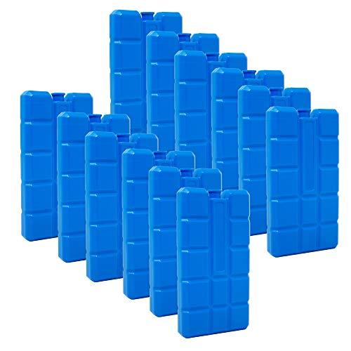 ToCi 8er Set Kühlakku mit je 200 ml | 8 Blaue Kühlelemente für die Kühltasche oder Kühlbox