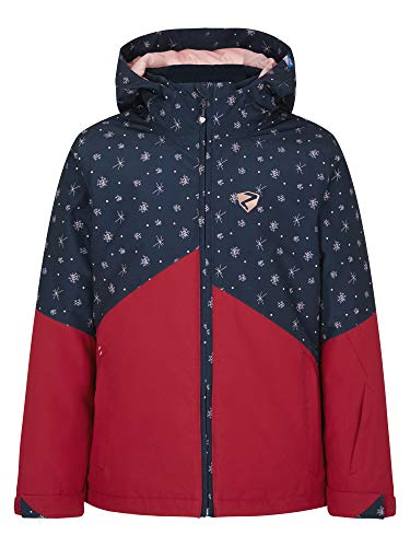 Ziener Mädchen Alani Junior Kinder Skijacke, Winterjacke   Wasserdicht, Winddicht, Warm, red Pepper, 128