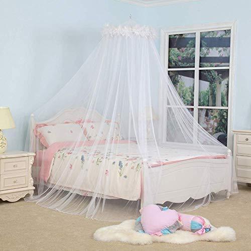 Bedhemel klamboes Dome for tweepersoonsbed insect netten Bescherming Nee huidirritatie for Kinderen Meisjes, White, 1020 * 230 * 56cm QIANGQIANG (Color : White, Size : 1020 * 230 * 56CM)