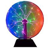 Magic Plasma Disco Ball Lamps Touch Sound Sensitive Desk Lamp Light Nebula Sphere Lightning Globe Home Room Decor electrostatic Flashing Balls Nightlight 8 Inch