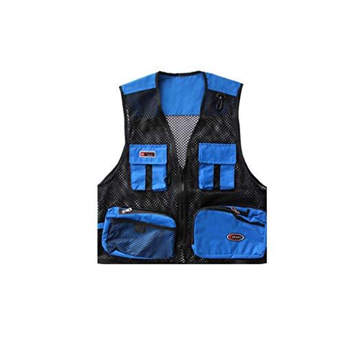 MALPYQ fotografie vest heren voorjaar en herfst zomer mesh vest outdoor werkkleding multi-pocket