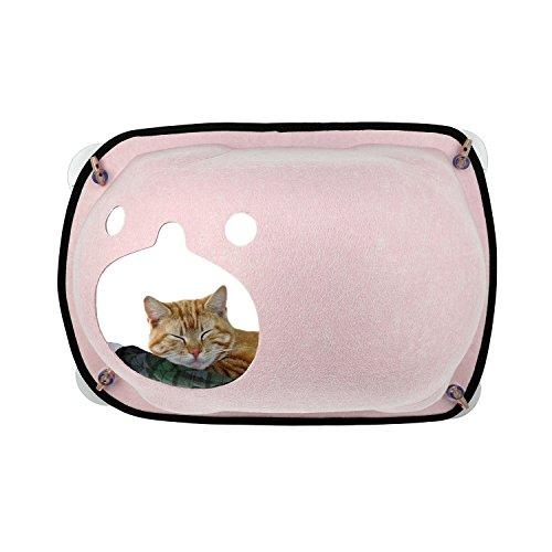 MOLOVET 猫窓 ベッド 吸盤タイプ 取り付け簡単 窓台日光に浴びて おやすみ ペット用品 キャットハウス ベッ...