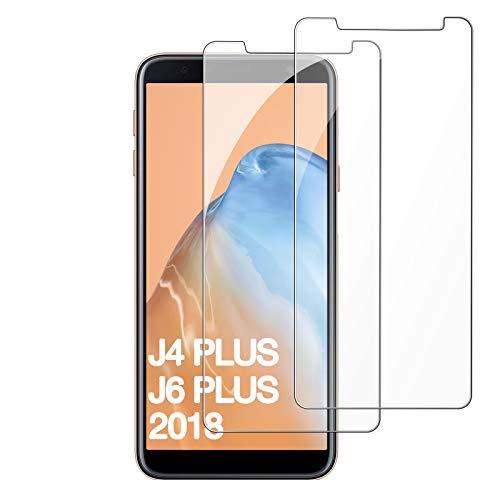 FUMUM [3 Stück] 2,5D Schutzglas Samsung Galaxy J4 Plus /J6 Plus Panzerglas,5-Mal Verbesserte 9H Gehärtetes Glas HD Glasfolie für Samsung J6 Plus/ J4 Plus 15,26cm Folie[Anti-Kratzer]