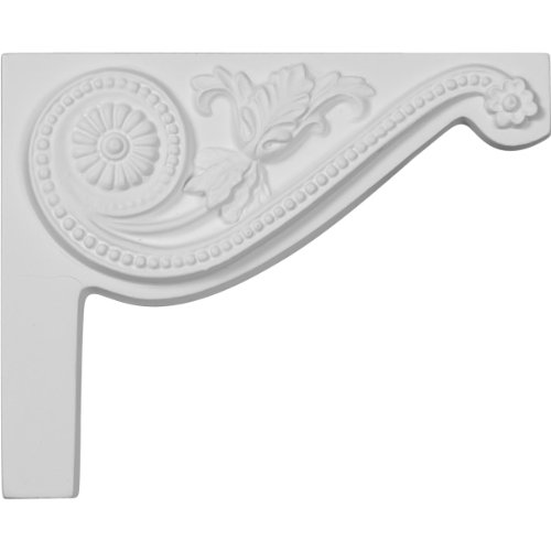Ekena Millwork SB08X06PE-R Pearl Stair Bracket, Right, 8