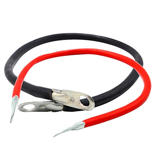 B Blesiya 2 Piezas Universal Car Boat Battery 5 AWG Gauge Cable Wire 50cm