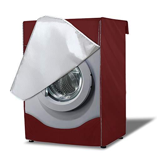 AlaSou Coprilavatrice da Esterno Copertura & Copertura Lavatrice Impermeabile per 4 coperture Laterali,Coperture Lavatire Lavatrice Copertura Taglia Larga (60×64×85cm,Rosso)