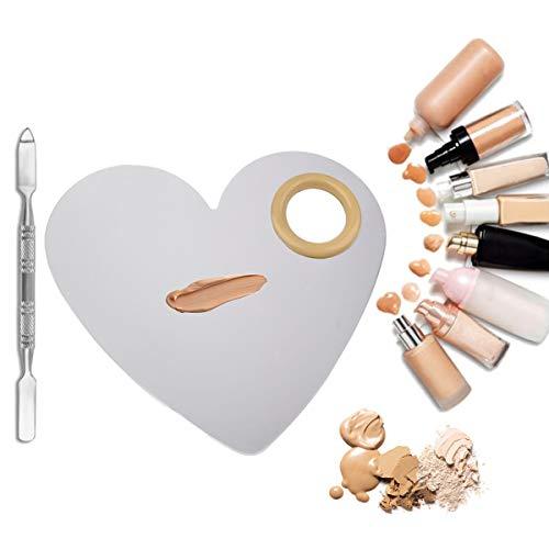 CFtrum Paletas de Maquillaje profesional de acero inoxidable. Paletas de mezcla de...