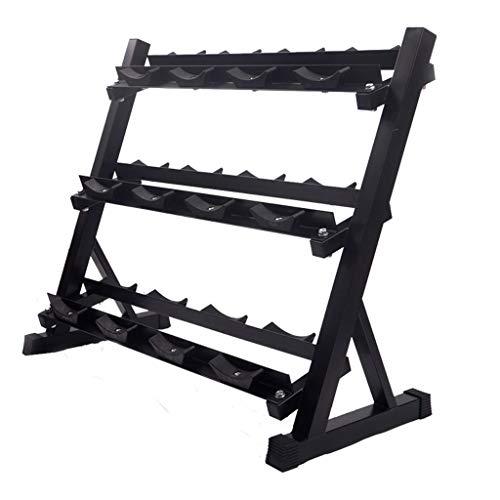 QIFFIY Hantelablage Rack-Hantel, Hantelständer Hantel Storage Rack Haushalt 3 Tier Hantel-Halter, Fitnessgeräte Zubehör langhantel (Color : Black(3-Tier))